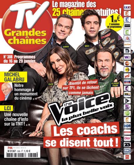 La Une de la presse hebdo TV ce lundi : Le Marchand, Galabru, The Voice...