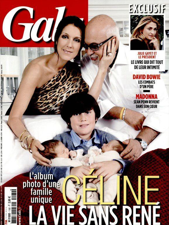 René Angelil et Céline Dion en Une de 4 hebdomadaires ce mardi.