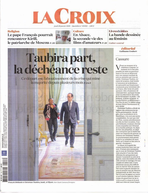 La Une de la presse quotidienne nationale ce jeudi 28 janvier.