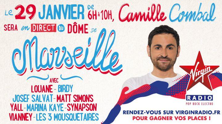 Le Morning de Camille Combal en direct du Dôme de Marseille ce vendredi.