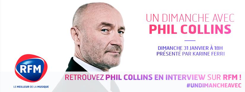 Karine Ferri reçoit Phil Collins ce dimanche sur RFM (extraits).