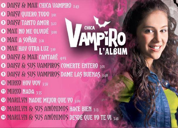 Sortie de l'album Chica Vampiro, tiré de la série TV du même nom.