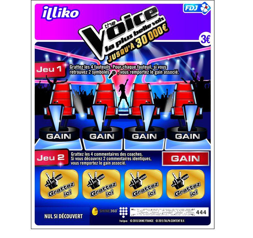 La Française des Jeux lance le jeu à gratter The Voice.