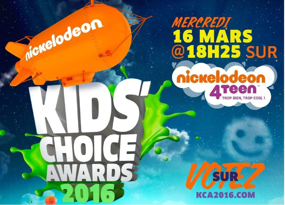 Les nominations des Kids Choice Awards 2016.