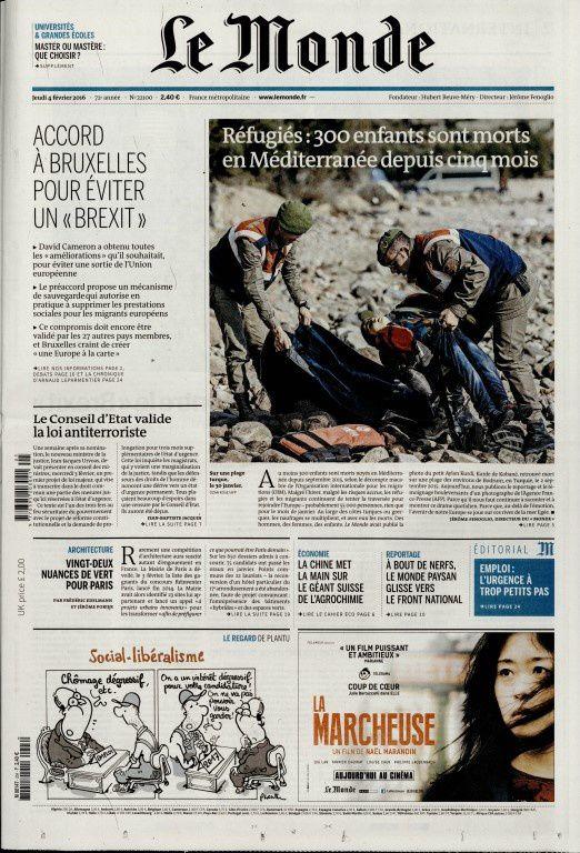 La Une de la presse quotidienne nationale ce jeudi 4 février.