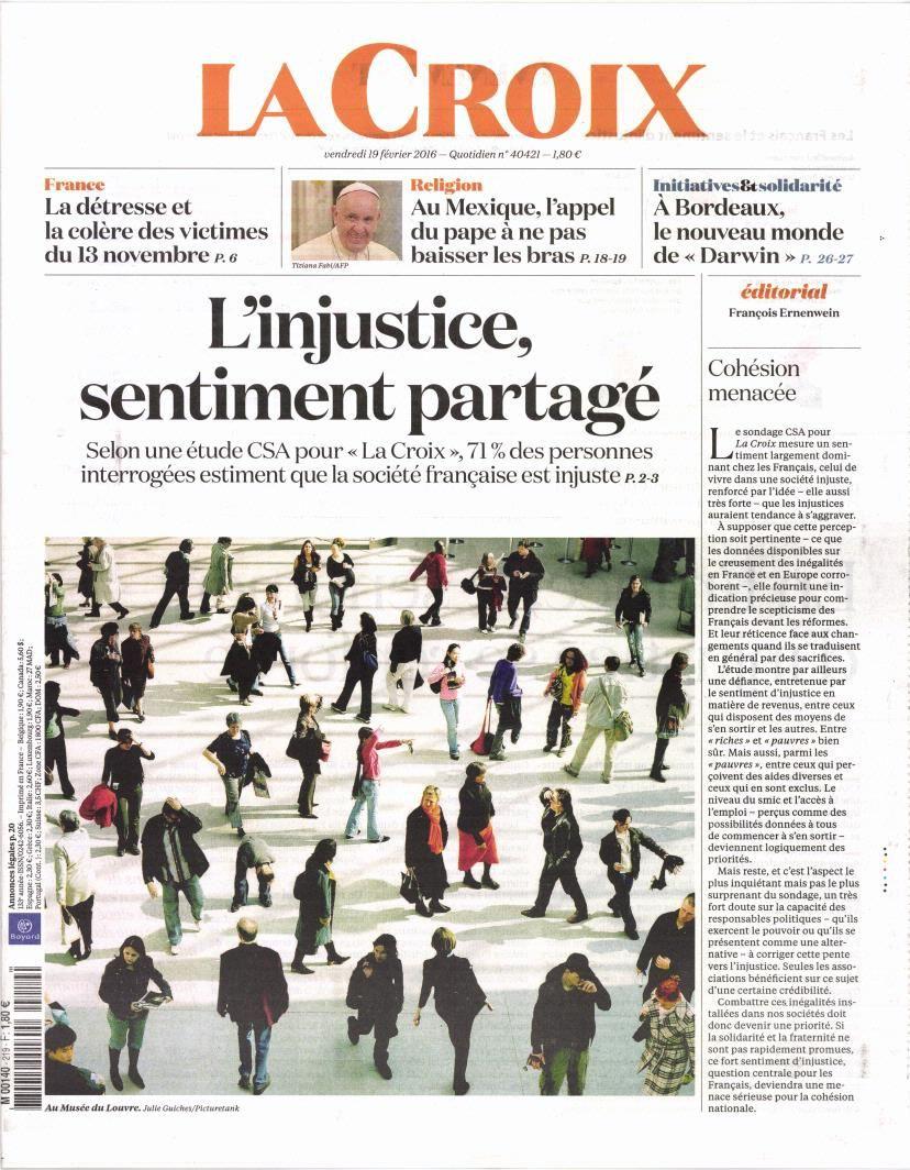 La Une des quotidiens nationaux ce vendredi 19 février.