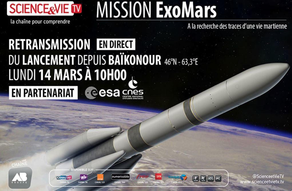 Mission ExoMars : Retransmission en direct du lancement depuis Baïkonour.