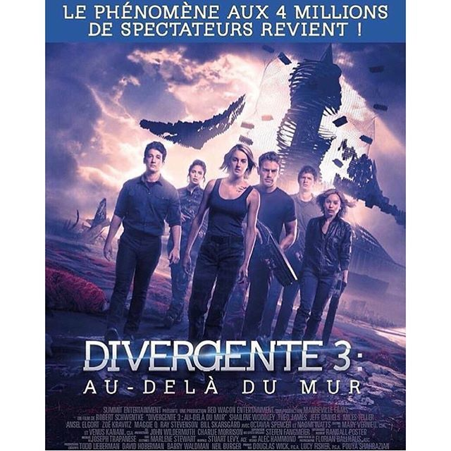 Box-office France : Divergente 3 leader, La vache vers le million.