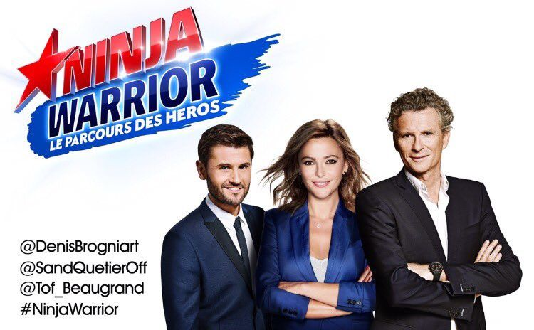 Officiel : Brogniart, Quétier, Beaugrand pour Ninja Warrior.