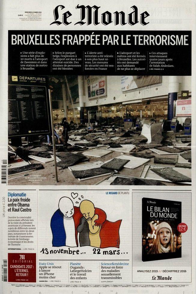 La Une des quotidiens nationaux ce mercredi (spécial Bruxelles).