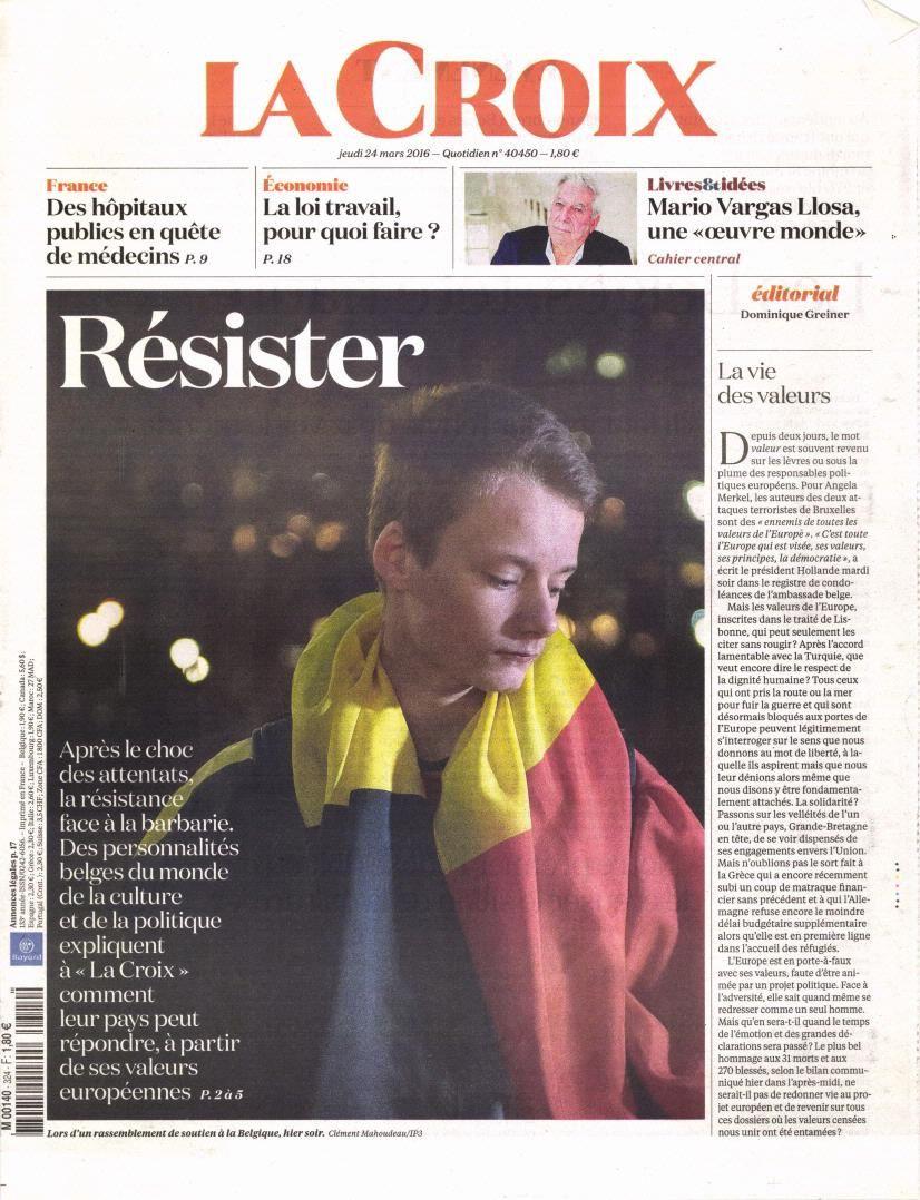 La Une des quotidiens nationaux ce jeudi 24 mars.