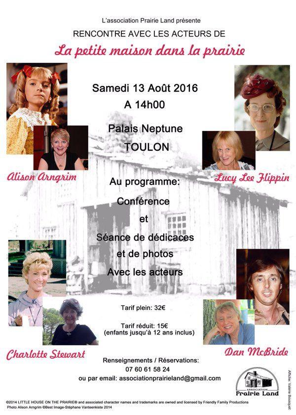 Quatre comédiens de La petite maison dans la prairie à Toulon ce week-end.