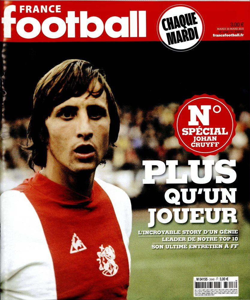 France Football rend hommage à Johann Cruyff.