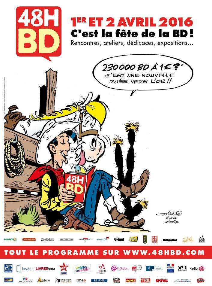 Opération 48H BD : 230.000 bandes dessinées à 1 euro (13 titres).