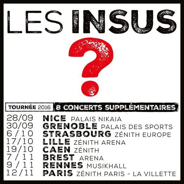 8 nouvelles dates pour les ex Téléphone, les Insus.