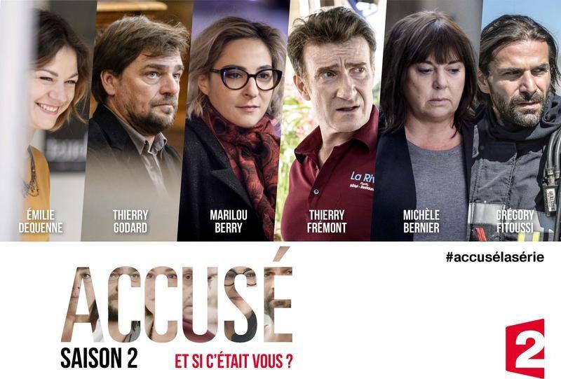 A voir ce mercredi : la saison 2 de la série Accusé, sur France 2.
