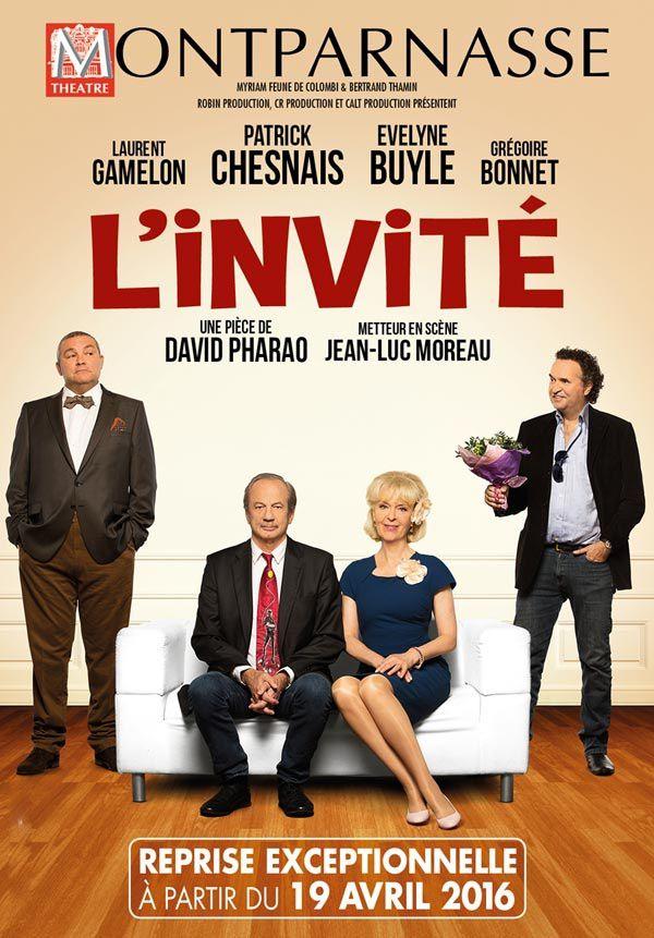 La pièce L'invité diffusée en direct ce soir sur France 2.