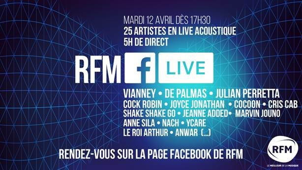 RFM propose un concert acoustique en direct de sa page Facebook.