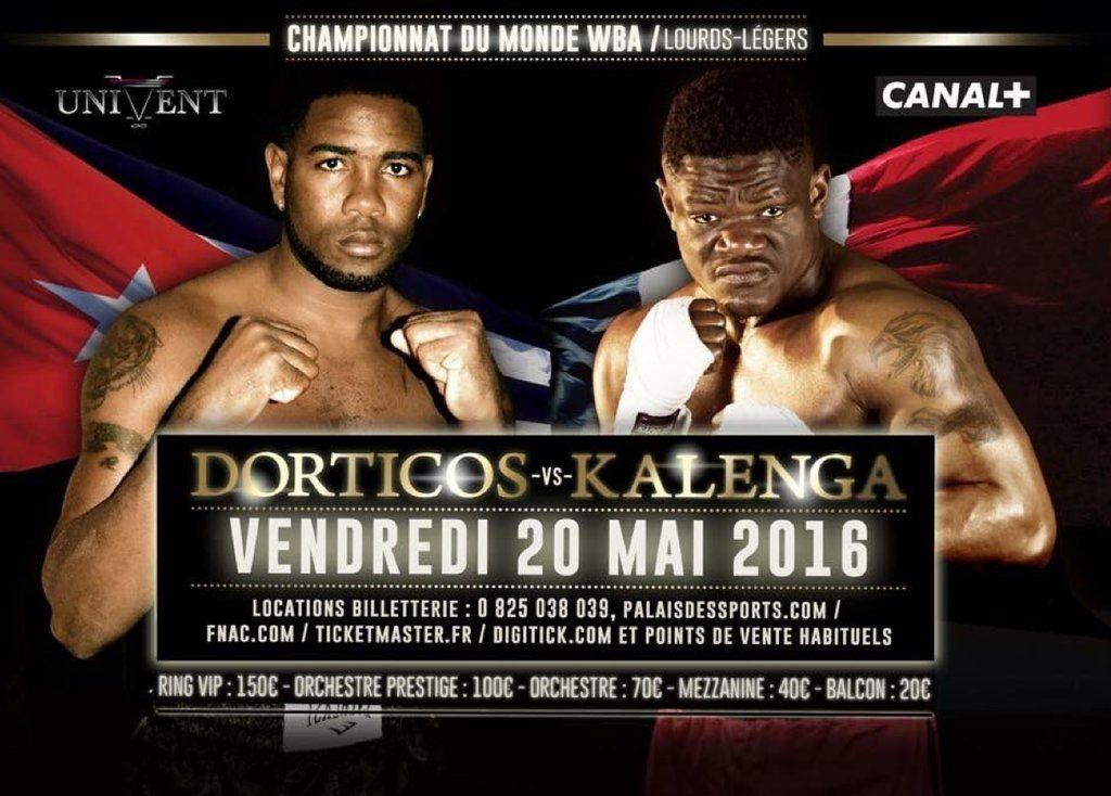 Retour de la boxe le 20 mai sur Canal+ : Dorticos Vs Kalenga.