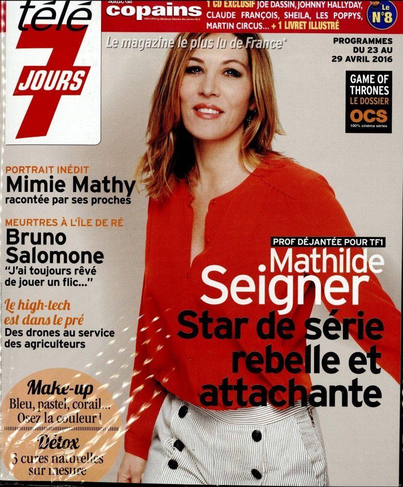 La Une des hebdos TV ce lundi : Mathilde Seigner, Mimie Mathy, Elise Lucet...
