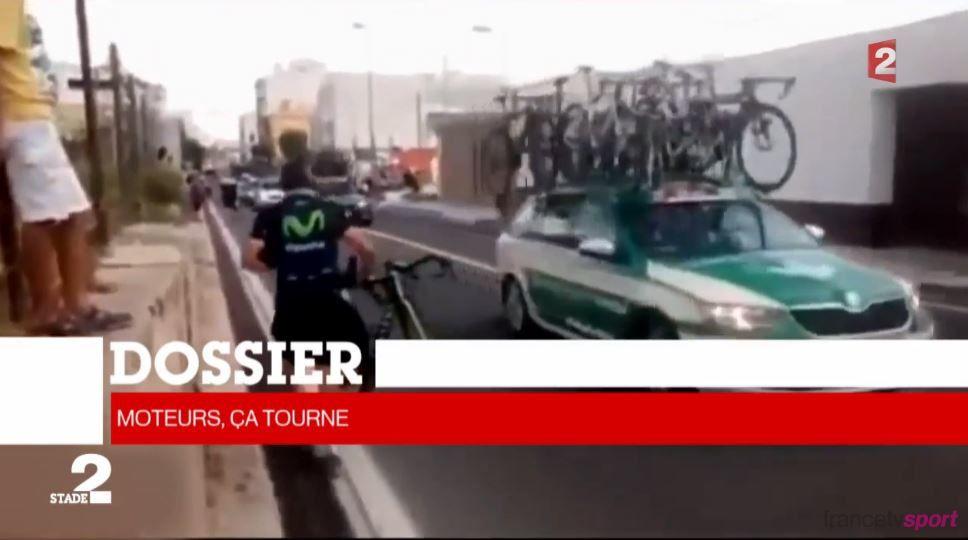 Moteurs cachés dans les vélos des cyclistes : vidéo de l'enquête vue dans Stade 2.