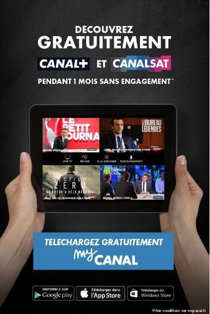 Canal+ et Canalsat Panorama disponibles pour tous pendant un mois via myCANAL.