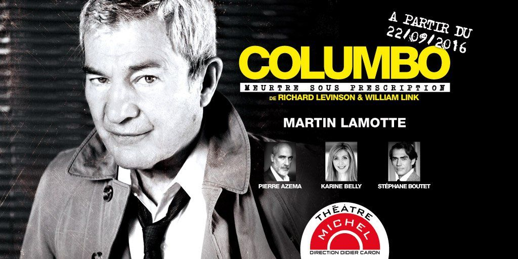 Martin Lamotte, inspecteur Columbo sur scène dès cette semaine.