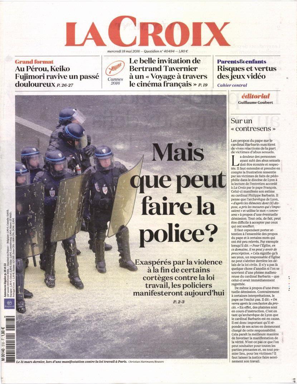 La Une des quotidiens nationaux ce mercredi 18 mai.