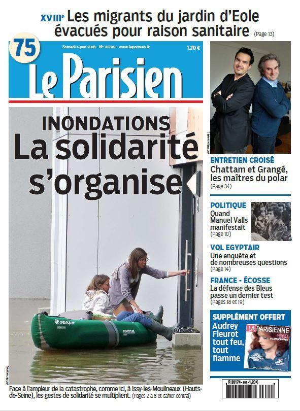 La Une des quotidiens nationaux ce samedi 4 juin.