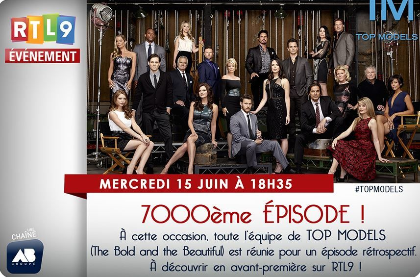 Ce mercredi sur RTL9, le 7000ème épisode de TOP MODELS (The Bold and the Beautiful).