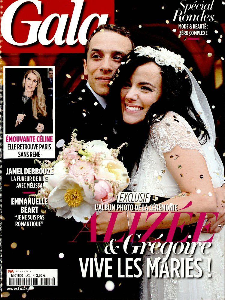 Le mariage d'Alizée et Grégoire en couverture de GALA.