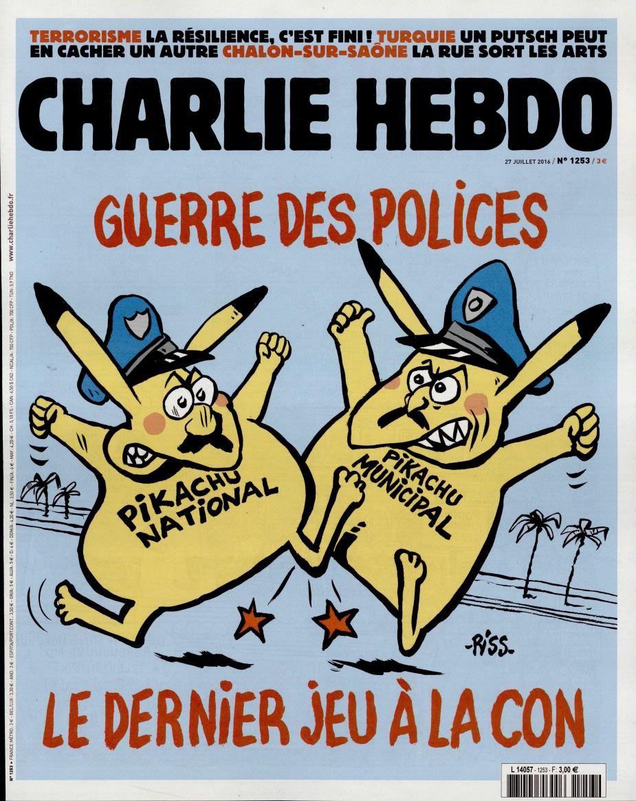 La Une de Charlie Hebdo ce mercredi.