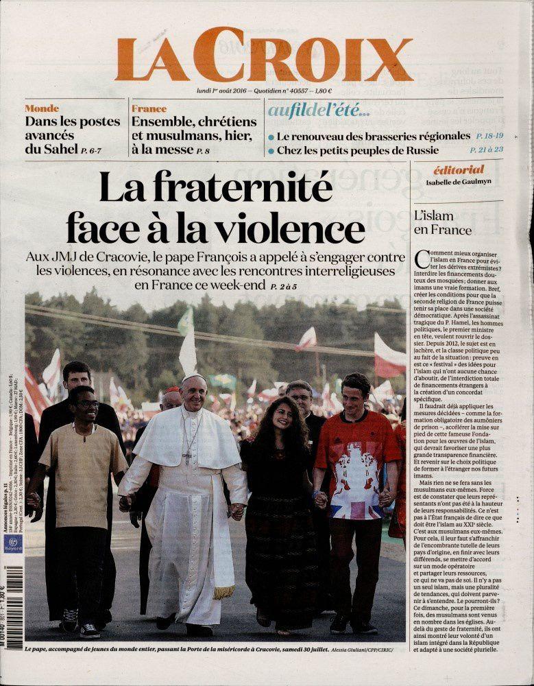 La Une de la presse quotidienne ce lundi 1er août.