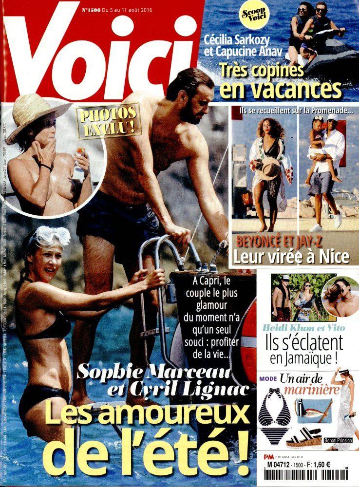 La Une de la presse people ce vendredi : Sophie Marceau, Kendji, Sophie Davant topless.