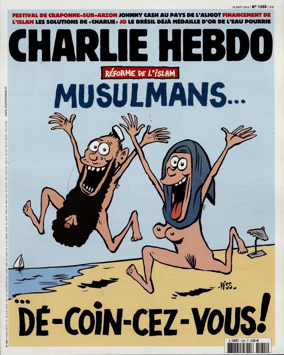 &quot&#x3B;Musulmans, décoincez-vous&quot&#x3B;, la Une de Charlie Hebdo par Riss.