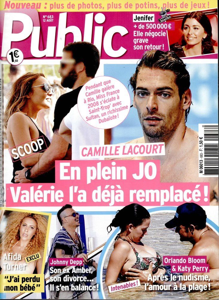 La Une de la presse people : Orlando Bloom, Camille Lacourt, Afida Turner...