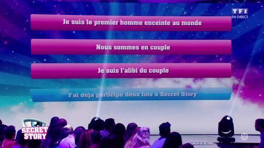 Liste de tous les secrets des candidats de Secret Story 10 (vidéo).