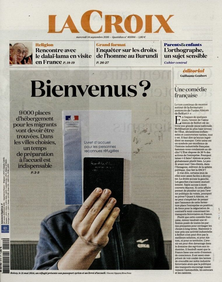 La Une des quotidiens nationaux ce mercredi 14 septembre.