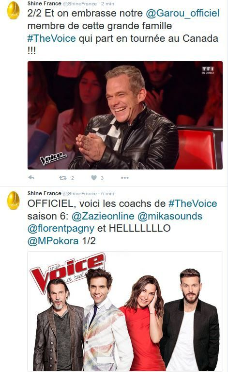 Confirmation officielle : M. Pokora, Pagny, Mika, Zazie coachs de The Voice.