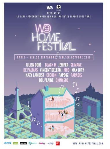 Le W9 Home Festival avec Jenifer, Julien Doré, Slimane, Black M.