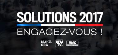 RMC lance &quot&#x3B;Solutions 2017, engagez-vous !&quot&#x3B;, grande consultation démocratique.