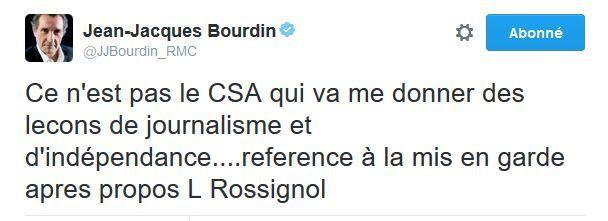 Jean-Jacques Bourdin : &quot&#x3B;Ce n'est pas le CSA qui va me donner des leçons de journalisme&quot&#x3B;.