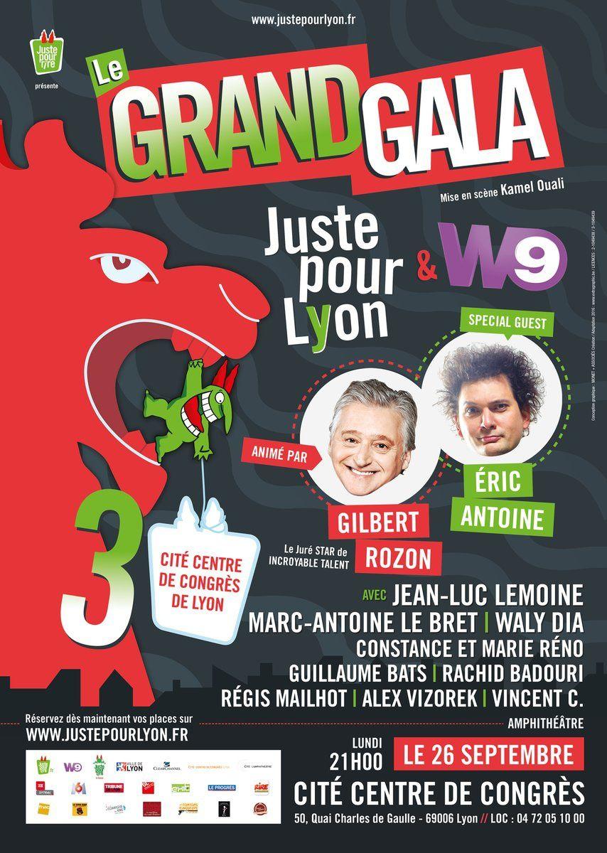 Diffusion prochainement du Grand gala &quot&#x3B;Juste pour rire&quot&#x3B; à Lyon.