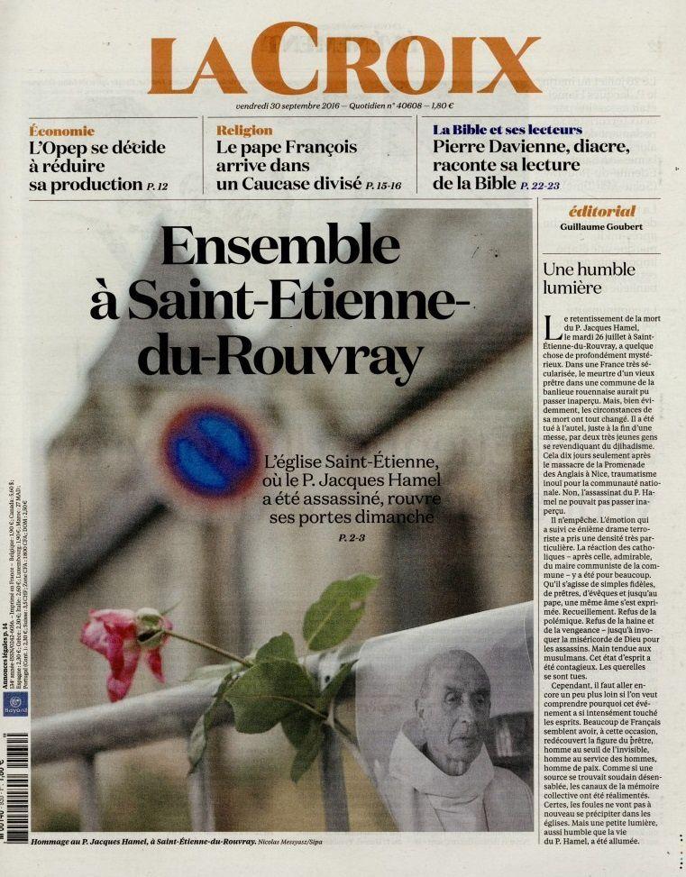 La UNE des quotidiens ce vendredi 30 septembre (numéro spécial de L'Équipe).