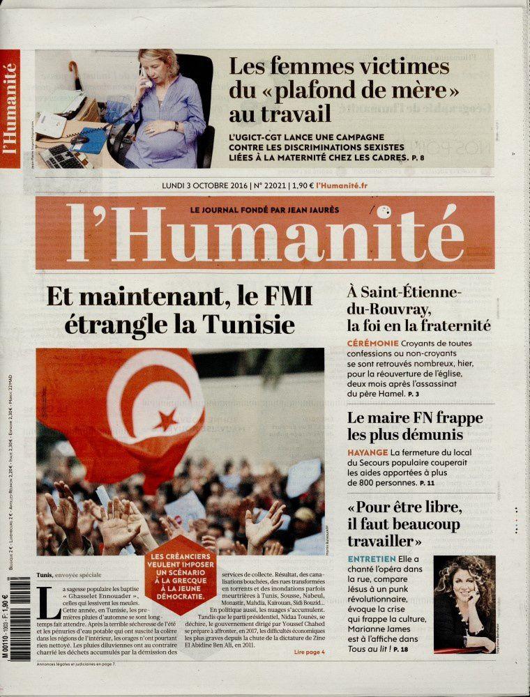 La Une des quotidiens nationaux ce lundi 3 octobre.