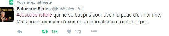 De nombreux journalistes ont apporté sur Twitter leur soutien à la rédaction d'iTélé.