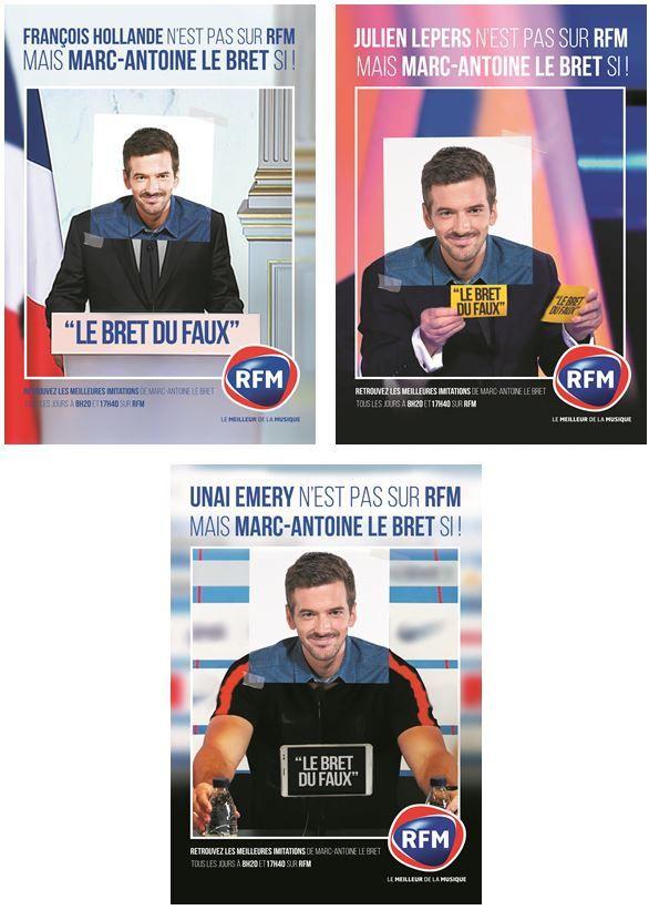 RFM lance cette semaine une nouvelle campagne de communication autour de Marc-Antoine Le Bret.