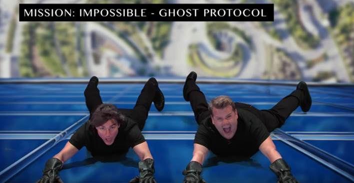 Tom Cruise et James Corden rejouent de nombreuses scènes de l'acteur (Vidéo).