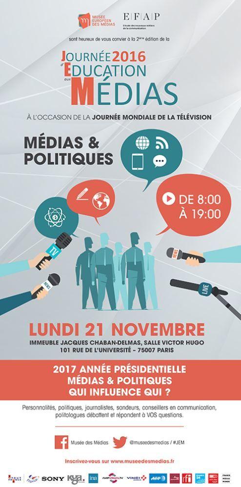 Christine Kelly organise la seconde Journée d'Education aux Médias, sur le thème « Médias et Politiques ».