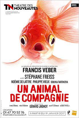 Un animal de compagnie, nouvelle pièce de Francis Veber, sur scène en janvier.